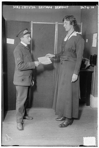 Crystal Eastman - Crystal Catherine Eastman in 1915.