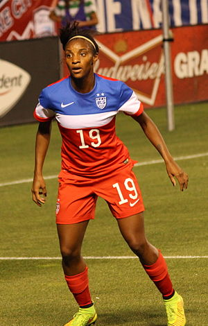 Crystal Dunn - In a match for the USWNT in September 2014