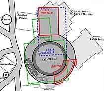 Curia Hostilia, Comitium, Rostra and Lapis Niger layout.jpg
