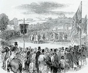 North Staffordshire Railway - Cutting of the first sod at Etruria