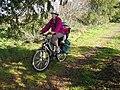 Cycling on Dava Way Path - geograph.org.uk - 1405413.jpg