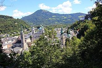 Gaisberg - View from Mönchsberg over Salzburg