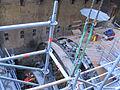 Düsseldorf Wehrhahn-Linie, Abbau des Bohrkopfs der Tunnelbohrmaschine Januar 2012 (2).jpg
