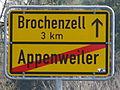 D-BW-Friedrichshafen-Appenweiler - Ortsschild nach Brochenzell.JPG
