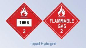 Liquid hydrogen - Image: DOT Hazardous Material Placard liquid hydrogen