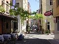 DSC04008 Istanbul - Pergolato in mezzo alla strada - Foto G. Dall'Orto 25-5-2006.jpg