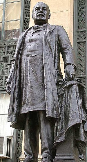 Grover Cleveland - Statue of Grover Cleveland outside City Hall in Buffalo, New York