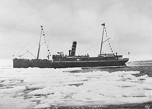 SS Irma (1905) - Irma in pack ice off Svalbard sometime in the 1920s