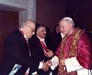 Mounir Abou Fadel - Image: Dad Visite Officielle Vatican Pape Jean Paul II