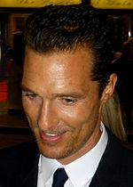 Photo of Matthew McConaughey at the 2013 Toronto International Film Festival premiere.