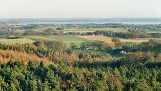 Dümmer - View of the Dümmer from Mordkuhlenberg eastwards over the Dammer Berge