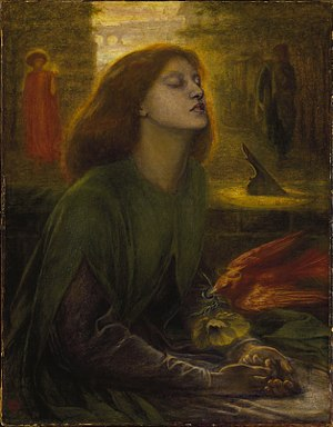 Elizabeth Siddal - Dante Gabriel Rossetti completed Beata Beatrix a year after Siddal's death.