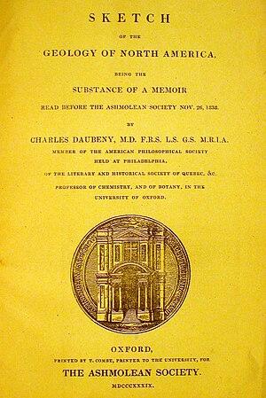 Charles Daubeny - Daubeny's 1839 work on North American geology.