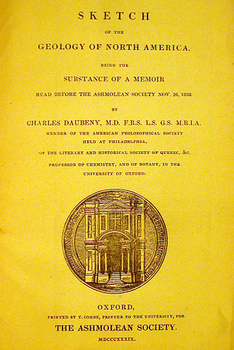 Charles Daubeny - Daubeny's 1839 work on North American geology.