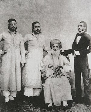 History of the Jews in Baghdad - David Sassoon of Baghdad (seated) and his sons