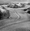 Dawes Glacier, tidewater glacier with thin medial moraines, August 23, 1964 (GLACIERS 5381).jpg