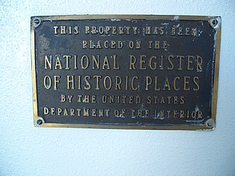 White Hall (Daytona Beach, Florida) - Image: Daytona Beach White Hall plaque 01