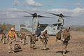 Defense.gov News Photo 101018-M-1267T-106 - U.S. Marines with Second Battalion Seventh Marine Division unload from a U.S. Marine MV-22 Osprey in Landing Zone Crow in the Imperial Desert.jpg
