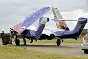 A privately owned de Havilland Sea Vixen (G-CVIX) at an air show in 2005.