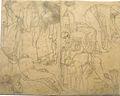 Dehodencq A. - Pencil - Etude de personnages, probablement d'après l'antique - 17x14cm.jpg