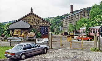 Delph railway station - Remains of the station in 1996