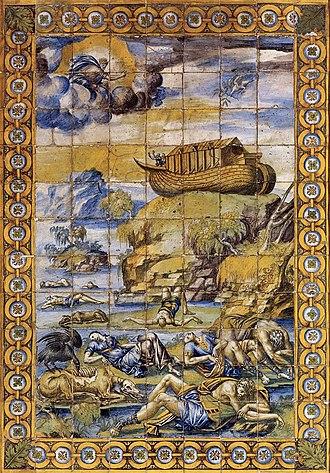 Masseot Abaquesne - Le Déluge, embarquement sur l'Arche, by Masséot Abaquesne (1550), exhibited in the Musée national de la Renaissance d Écouen.