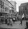 Demonstraties in Brussel tegen de Eenheidswet, stakers trekken door Luik, Bestanddeelnr 911-9369.jpg