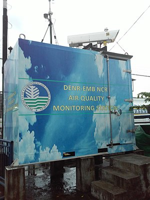 Department of Environment and Natural Resources - An air quality monitoring station in Marikina City maintained and run by the DENR.