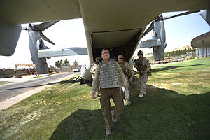 Ash Carter - Carter arrives in Herat, Afghanistan, in 2013