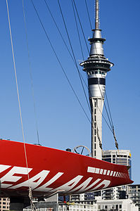 Detail of the hull New Zealand and The Sky Tower, Auckland - 0283.jpg