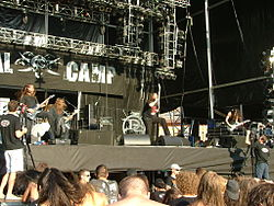 German Thrash Metal band Dew-Scented at Metalcamp festival on 21 July 2007