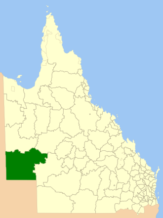 Shire of Diamantina - Location within Queensland