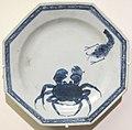 Dinastia ming, piatto del servito griffin, canton, 1761.JPG
