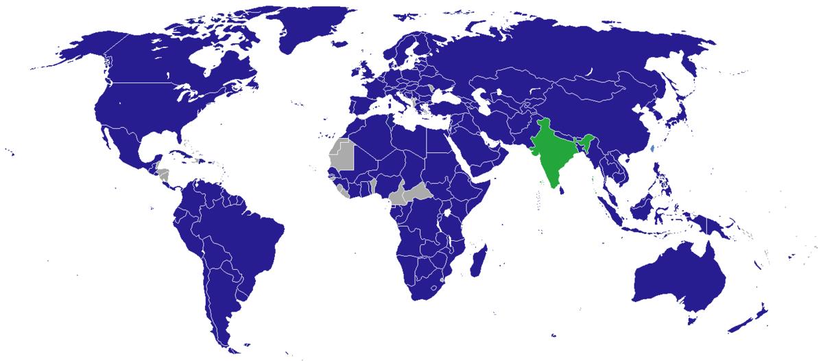 List Of Diplomatic Missions In India Wikipedia - Us embassy shantipath chanakyapuri new delhi map
