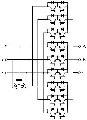 AC/AC converter - Image: Direct matrix converter