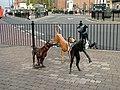 Dog Statues, Stockton High Street - geograph.org.uk - 76820.jpg