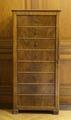 Dokumentskåp av mahogny och furu med dörr och bakomliggande lådor - Hallwylska museet - 108941.tif