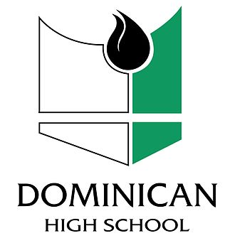 Dominican High School (Whitefish Bay, Wisconsin) - Image: Dominican Stacked Logo for light Background