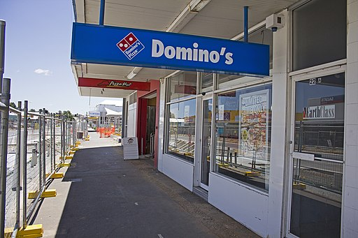 Domino's and Pizza Hut stores located on Crawford Street in Queanbeyan