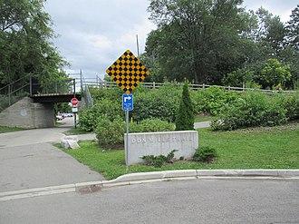 Don Mills Trail - Image: Don Mills Trail Bond Street entrance