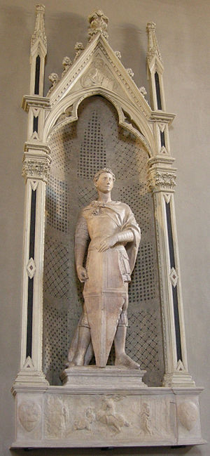 What subject of the artwork saint george by donatello