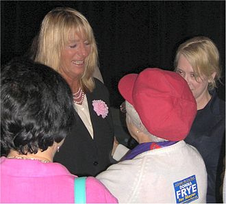 Donna Frye - Donna Frye speaking to supporters during the 2005 mayoral campaign