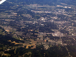 Bloomington from above, looking west