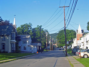 Dover Plains, New York - East view along Mill Street