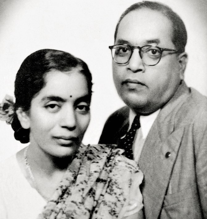 Dr. B.R. Ambedkar with wife Dr. Savita Ambedkar in 1948