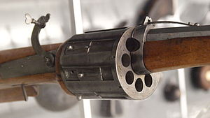 Revolver - Detail of an 8-chambered matchlock revolver (Germany c. 1580)
