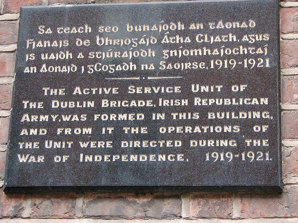 Dublin Brigade Wall Plaque 1919-1921