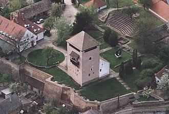 """Dunaföldvár - Aerialphotography of Dunaföldvár - """"Csonkatorony""""(tower)"""