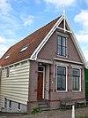 foto van Houten huis met houtskelet