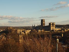Durham cathedral from railway station.jpg